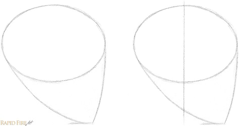 How to Draw a Female Face from the Side View Step 2