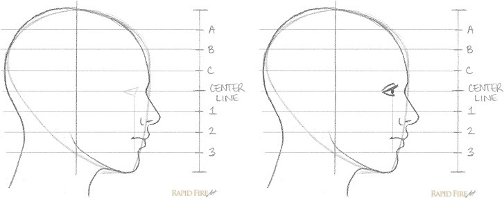 How to Draw a Female Face from the Side View Step 9