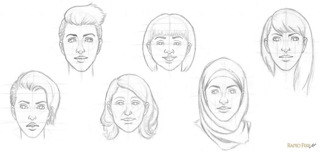 How to draw female faces experiment RFA