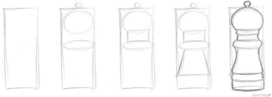 How to break an object down into simple shapes