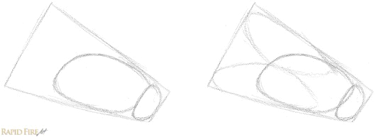 How to break objects down into simple shapes Stage 2