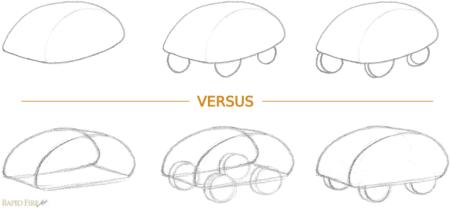 2D vs 3D Car example
