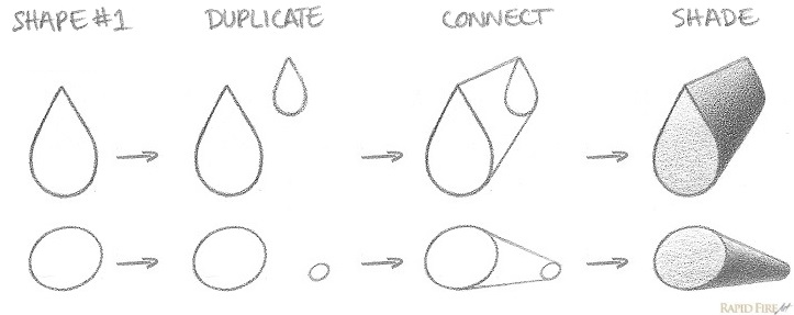 How to Draw 3D Round Edged Shapes Examples