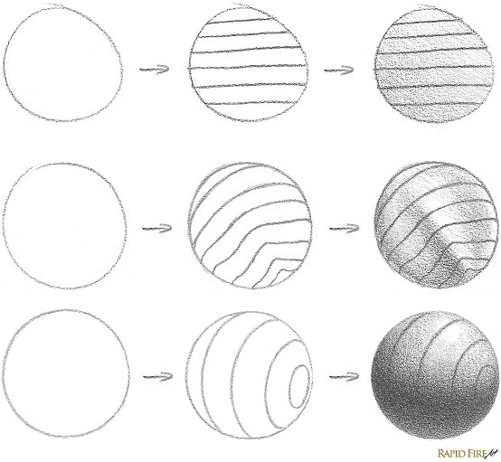 How to Draw Using Contour Lines _ Circle Example RFA 4