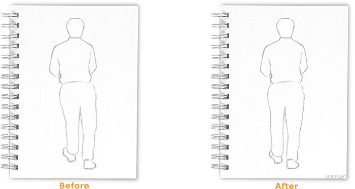 proportion sketch comparison