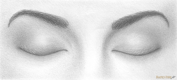 How to Draw Closed Eye...