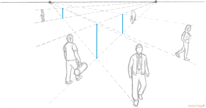 two point perspective people only