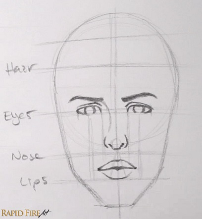 how to draw lips on a face