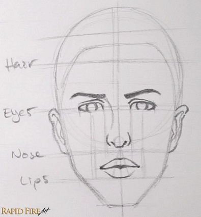 how to draw faces for beginners simple rapidfireart