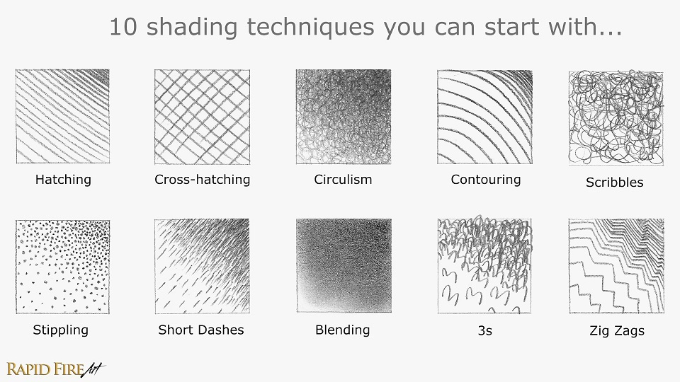 Pencil Shading Techniques