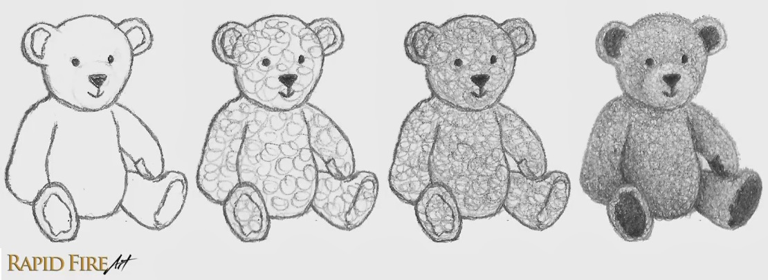 Shading Techniques Practice_Circulism Teddy Bear