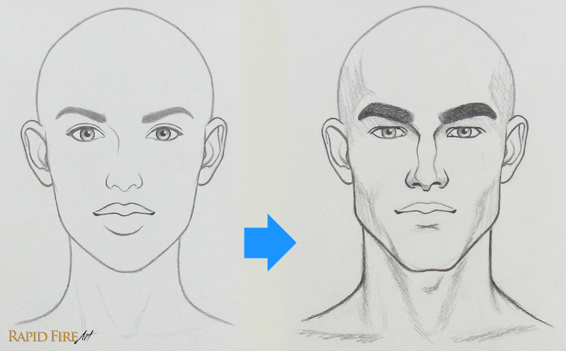 How to fix a drawing that looks too feminine female