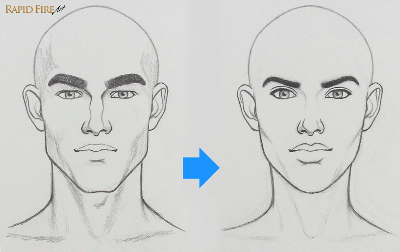 How to fix a drawing that looks too masculine
