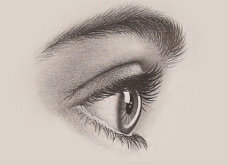 How to Draw a Realistic Eye From the Side