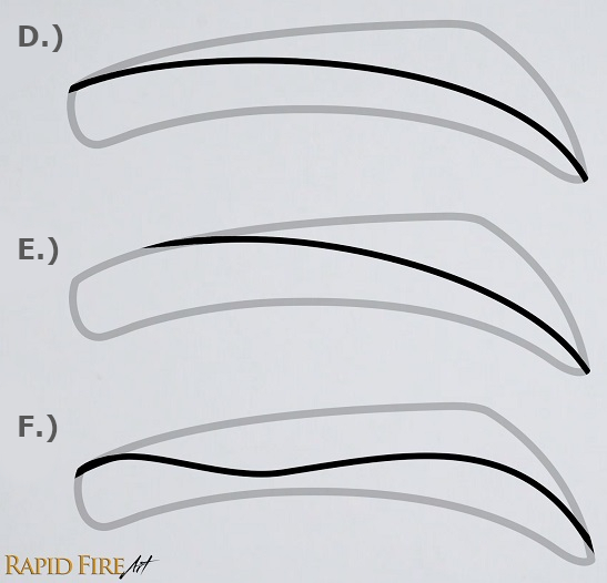 how to draw a male eyebrow