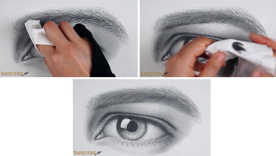 Blend Bushy Eyebrow Drawing