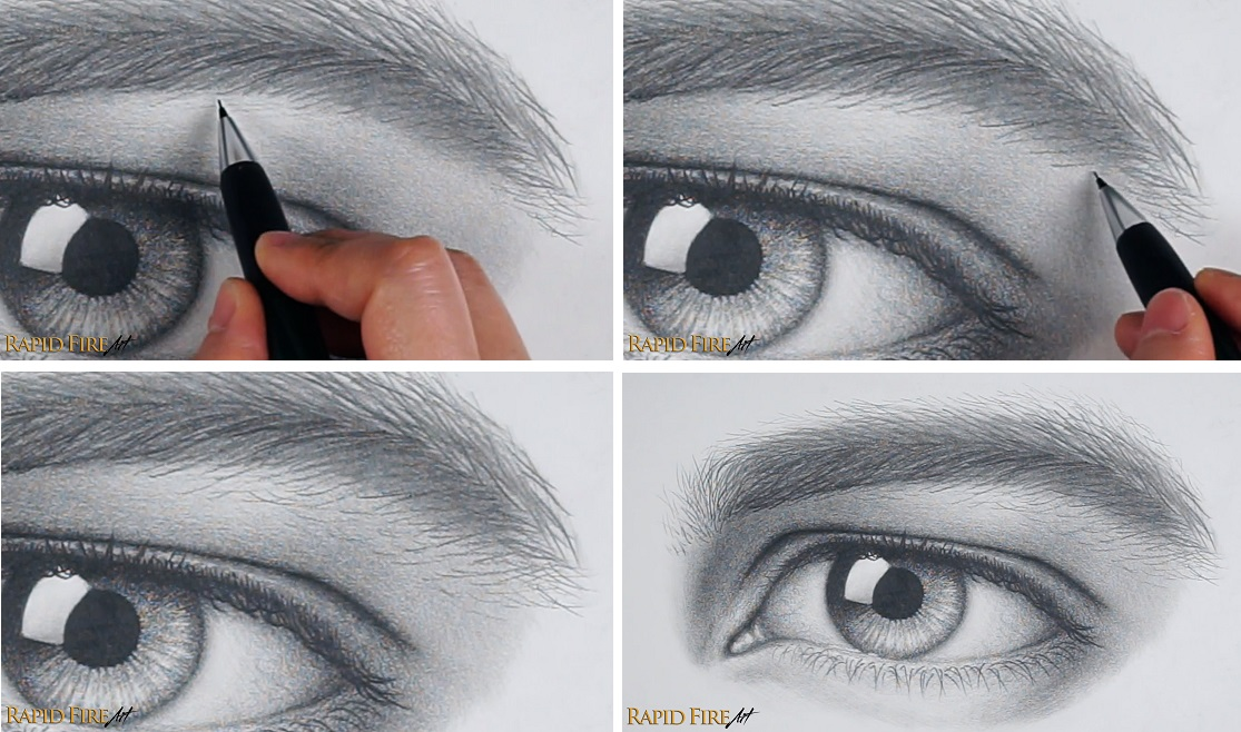 How to Draw Stray Eyebrow Hair Bushy