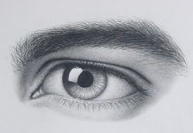 how to draw a realistic male masculine eyebrow step by step with pencil and paper